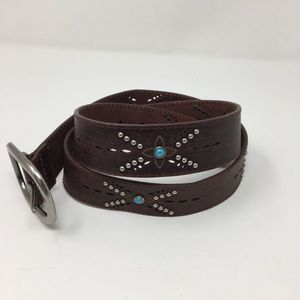 Accessories - Genuine Leather Belt with Studding size Large